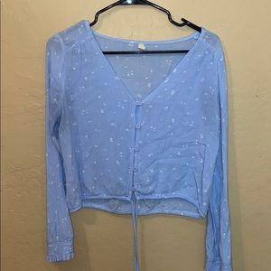 Sky and Sparrow blue blouse
